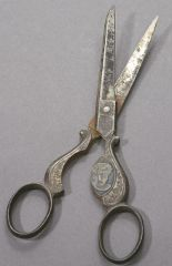 William H. Taft / Helen Herron Taft Silver-plated Portrait Scissors, ca. 1908 [Cornell University Collection of Political Americana, Cornell University Library]