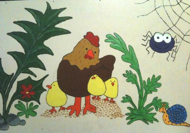 Chicken palazzo mural (Photo by Tseen Khoo)