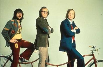 The Goodies + their bike (from smh.com.au)